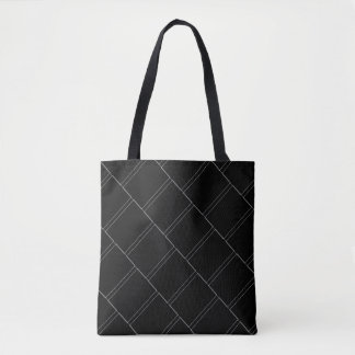 Thin White Rectangles Geometric Pattern Tote Bag