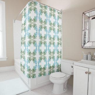 Thing-a-ma-jig Print - blue greens Shower Curtain