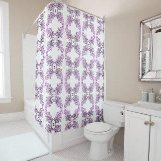 Thing-a-ma-jig Print - bright purples Shower Curtain