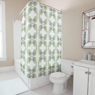 Thing-a-ma-jig Print - olives Shower Curtain