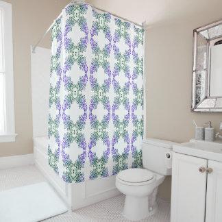 Thing-a-ma-jig Print - purple green Shower Curtain