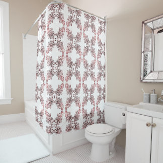Thing-a-ma-jig Print - reds Shower Curtain