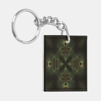 Thing of Wonder Kaleidoscope Mandala Double-Sided Square Acrylic Key Ring