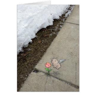 things as unlikely as springtime card