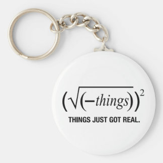 things just got real basic round button key ring