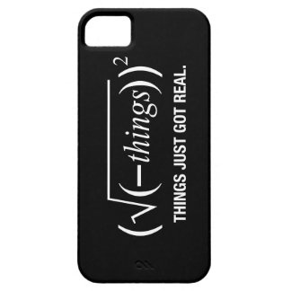 things just got real iPhone 5 cover