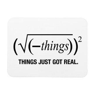 things just got real rectangular photo magnet
