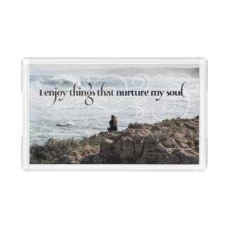 Things That Nurture My Soul Acrylic Tray