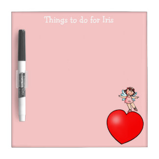Things to do Board -  Little Dancer on Red Heart Dry-Erase Whiteboard