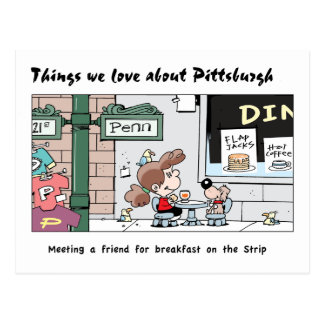 Things We Love About Pittsburgh - The breakfasts! Postcard