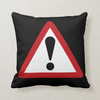 Think (2) Warning Sign, UK Cushion