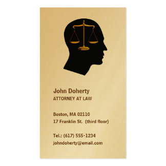 Think about justice - Attorney at law Business Card Templates