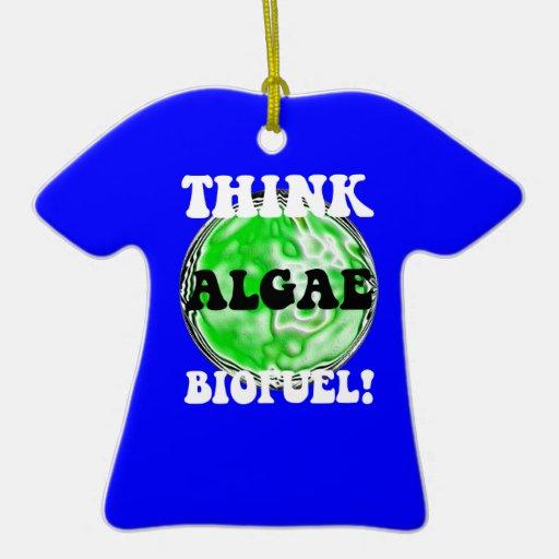 think algae biofuel christmas tree ornaments