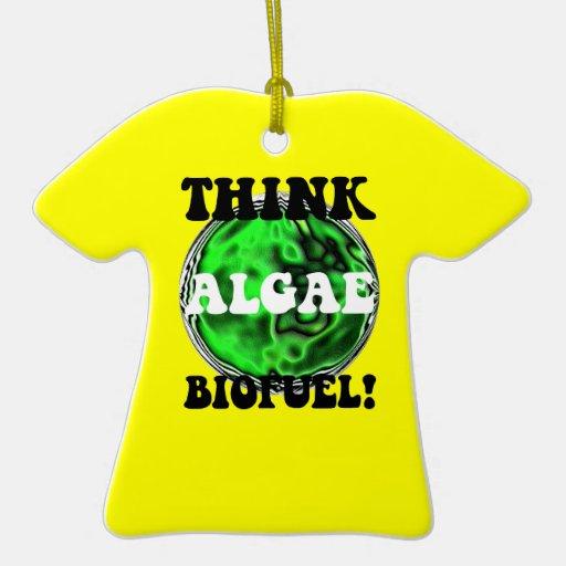 think algae biofuel christmas ornaments