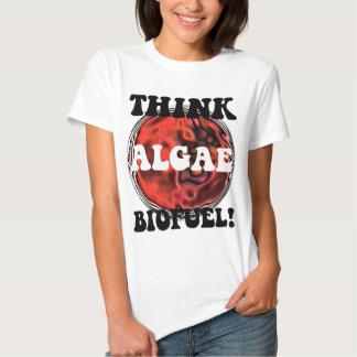Think algae biofuel t shirt