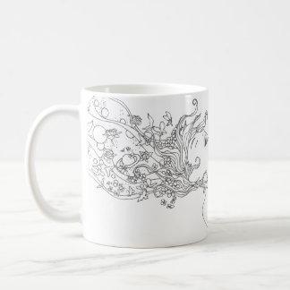 'Think' art mug
