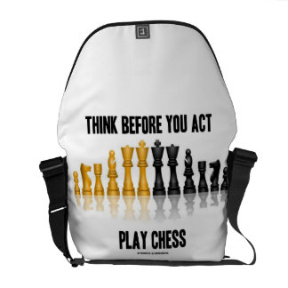 Think Before You Act Play Chess (Reflective Chess) Commuter Bags
