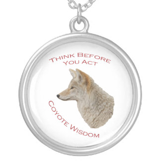 Think Before You Act Round Pendant Necklace
