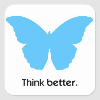Think better with MorphOS Square Sticker