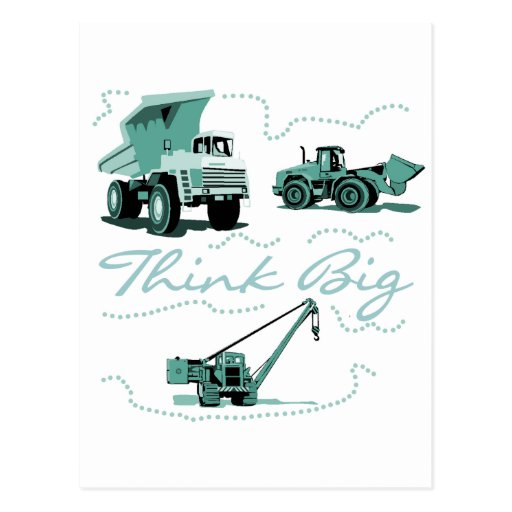 Think Big Construction T-shits and Gifts Postcard