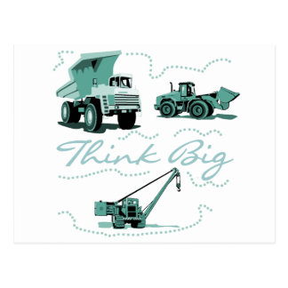 Think Big Construction T-shits and Gifts Postcards