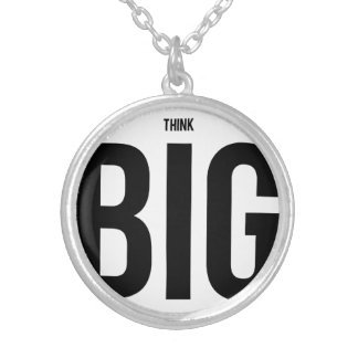 Think BIG Round Pendant Necklace