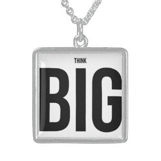 Think BIG Square Pendant Necklace
