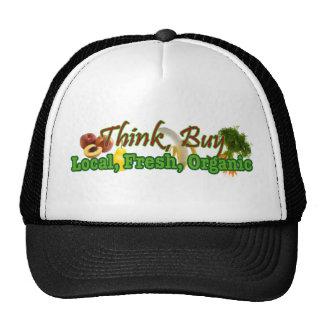Think, Buy Local, Fresh, Organic Trucker Hat