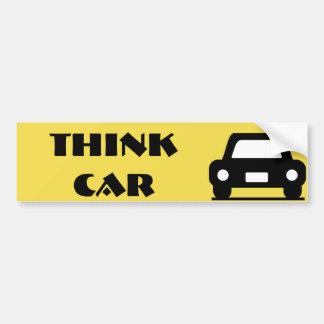 Think Car Funky Sticker Bumper Sticker