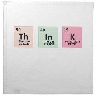 Think - Chemistry Napkin
