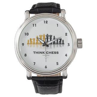 Think Chess Reflective Chess Set Chess Advice Watch