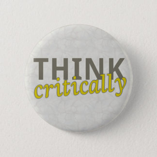 Think Critically Pin Back Buttons
