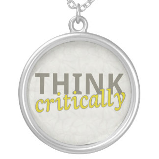 Think Critically Sterling Silver Necklace