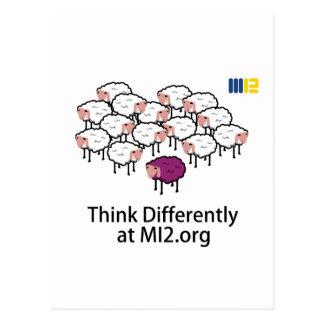 Think Differently - Purple Sheep Postcard