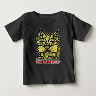 """""""Think For Yourself"""" BuddaKats Baby T-Shirt"""