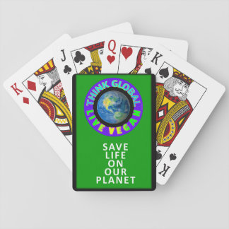 Think global/live vegan Playing Cards. Playing Cards