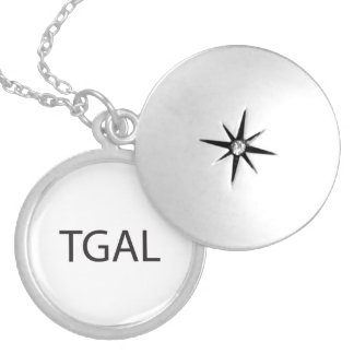 Think Globally, Act Locally.ai Round Locket Necklace