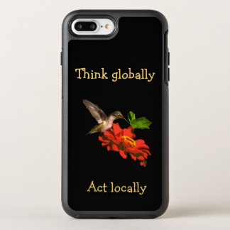 Think Globally Act Locally Red iPhone 7 Plus Case