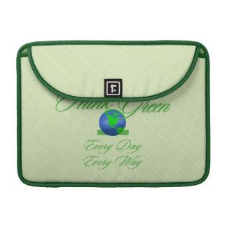 "Think Green 2 Macbook Pro 13"" Rickshaw Flap Sleeve Sleeves For MacBooks"