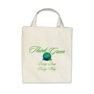 Think Green 2 Organic Grocery Tote Bag
