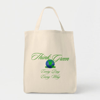 Think Green 2 Organic Grocery Tote Grocery Tote Bag