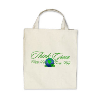 Think Green 3 Organic Grocery Tote Bag