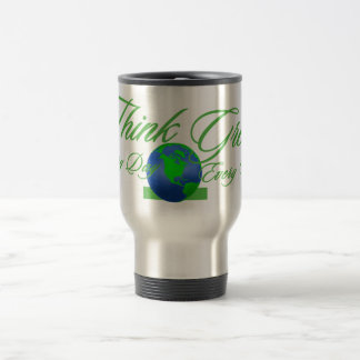 Think Green 3 Stainless Steel Travel Mug