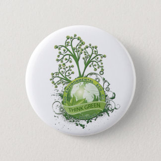 Think Green 6 Cm Round Badge