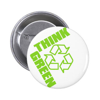 Think_Green 6 Cm Round Badge