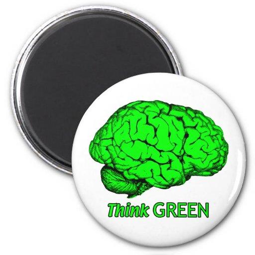 Think GREEN 6 Cm Round Magnet