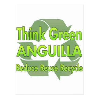 Think Green Anguilla Postcard
