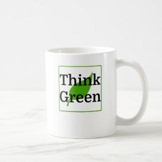 Think Green Basic White Mug