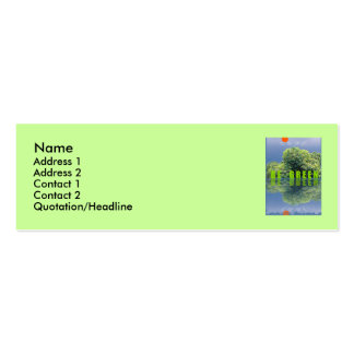 THINK GREEN / BE GREEN PACK OF SKINNY BUSINESS CARDS