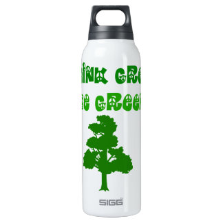 Think Green Be Green Thermo 16 Oz Insulated SIGG Thermos Water Bottle